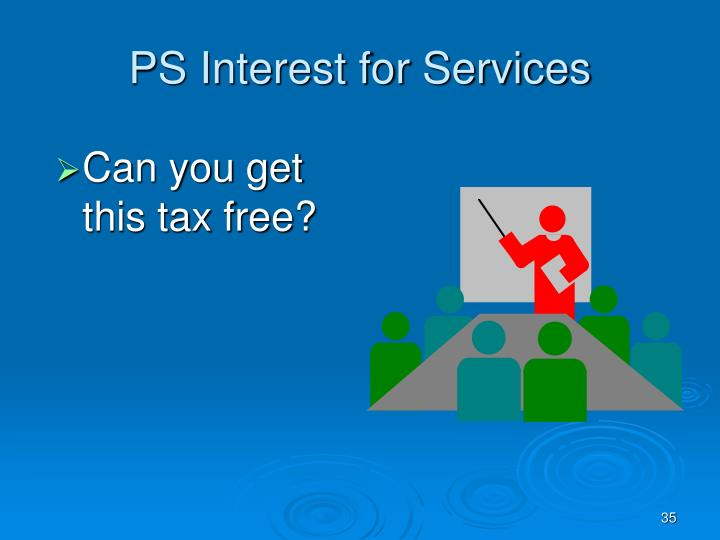PS Interest for Services