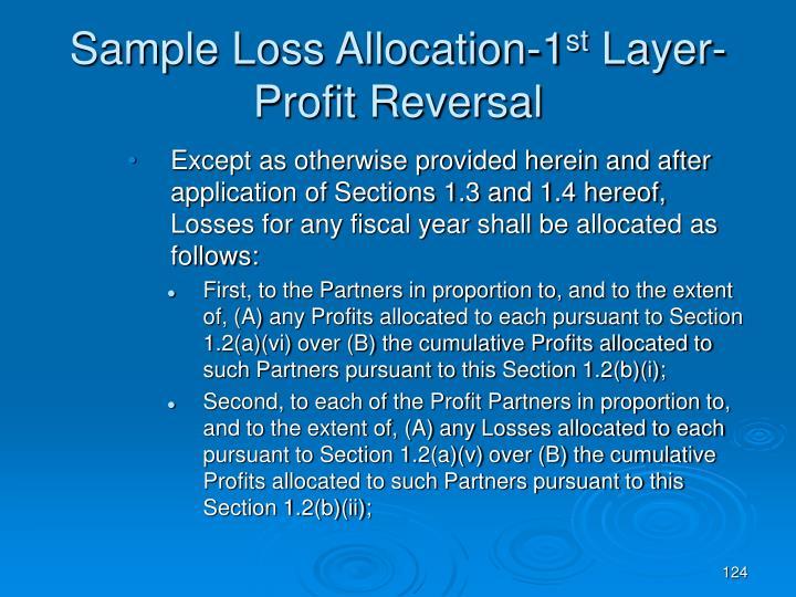 Sample Loss Allocation-1
