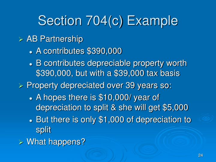 Section 704(c) Example