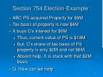 section 754 election example