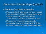 securities partnerships cont d
