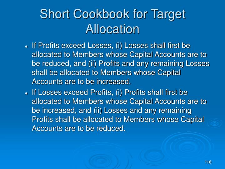 Short Cookbook for Target Allocation