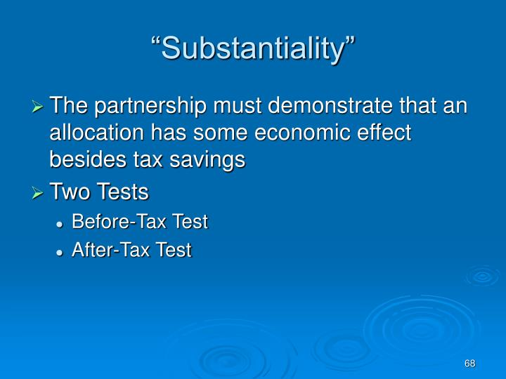 """""""Substantiality"""""""