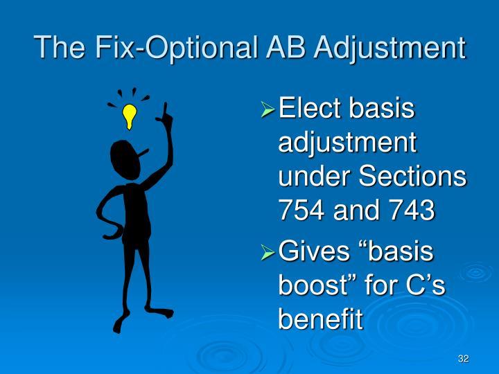 The Fix-Optional AB Adjustment