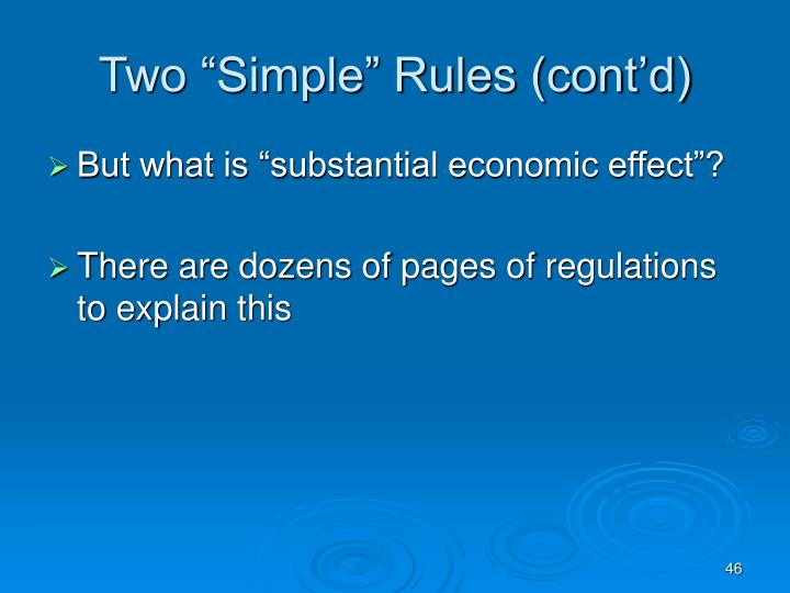 """Two """"Simple"""" Rules (cont'd)"""