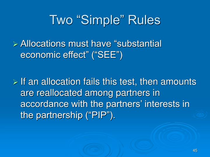 """Two """"Simple"""" Rules"""