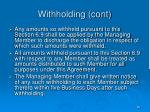 withholding cont