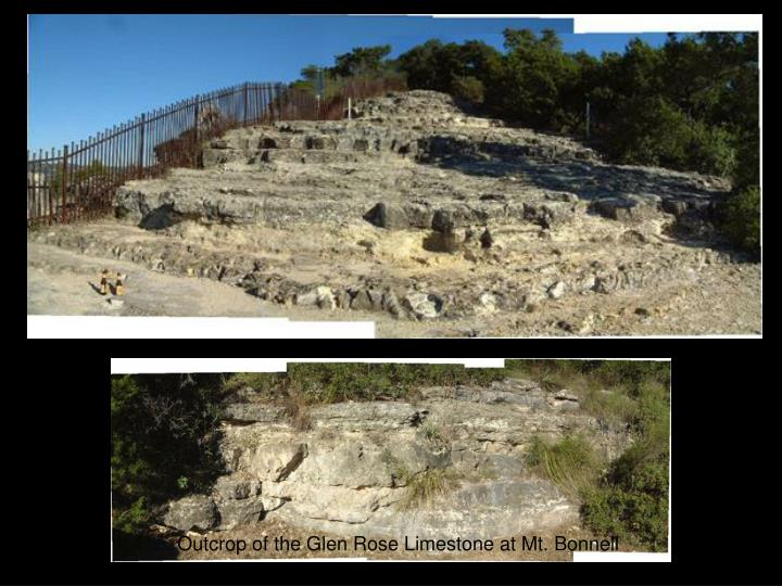 Outcrop of the Glen Rose Limestone at Mt. Bonnell