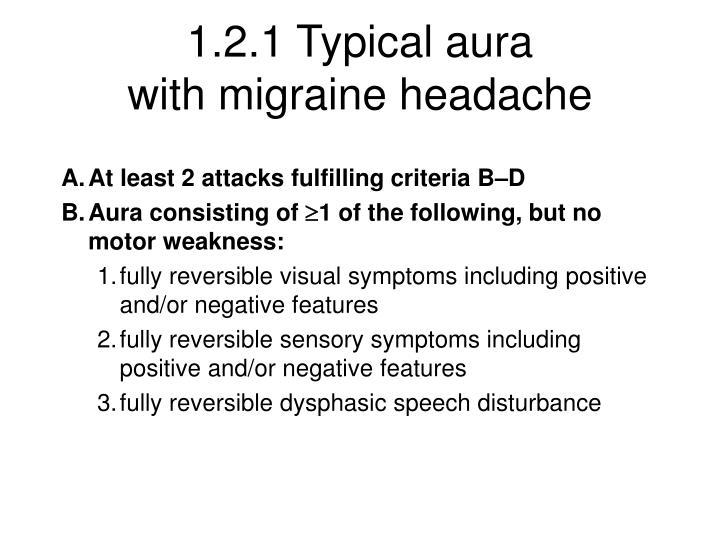 1.2.1 Typical aura