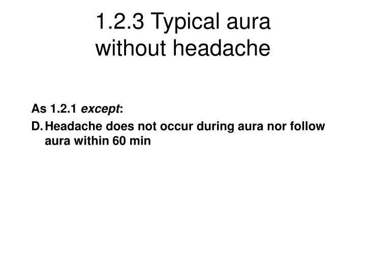 1.2.3 Typical aura