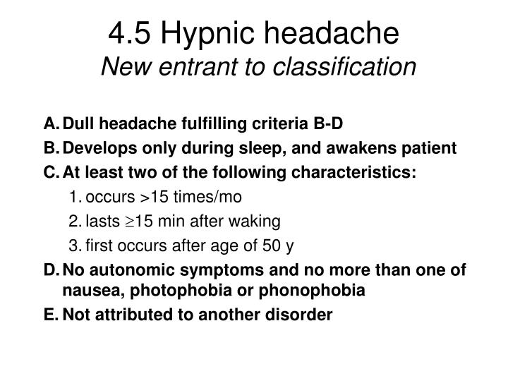 4.5 Hypnic headache