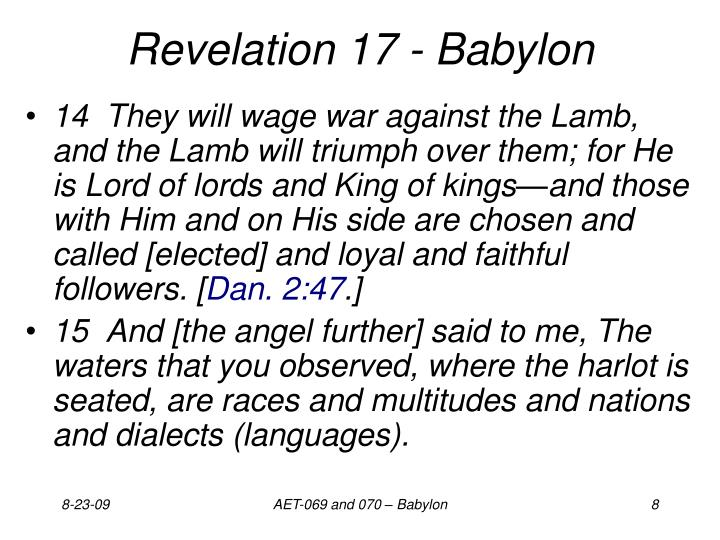 Revelation 17 - Babylon