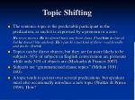 topic shifting