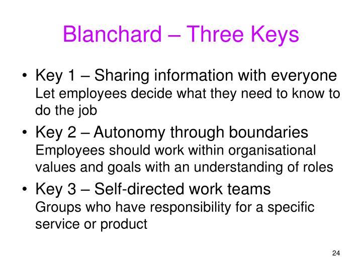 Blanchard – Three Keys