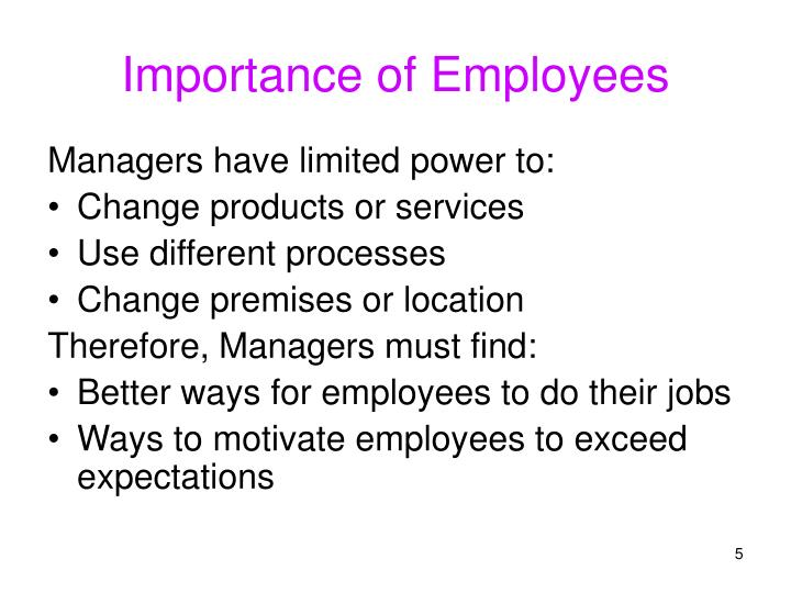 Importance of Employees