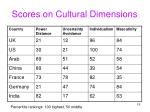 scores on cultural dimensions