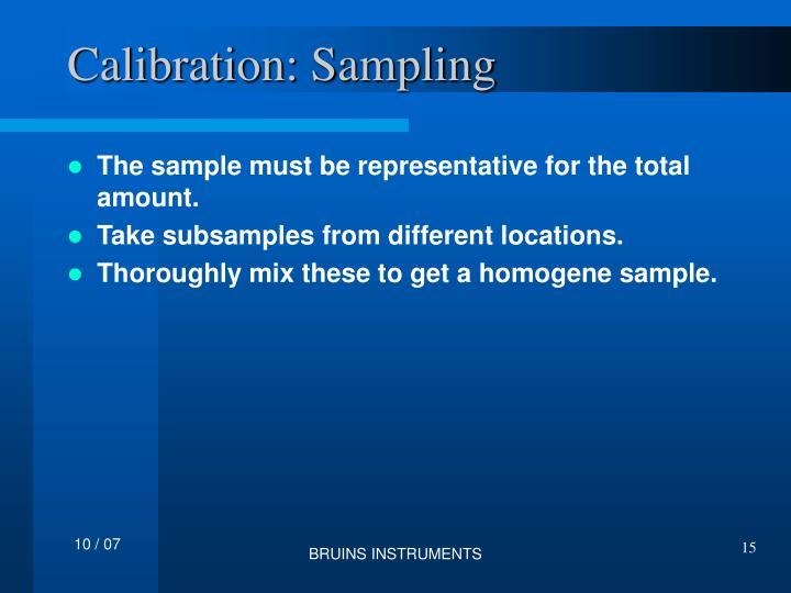 Calibration: Sampling