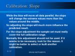 calibration slope