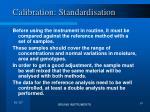 calibration standardisation