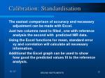 calibration standardisation1