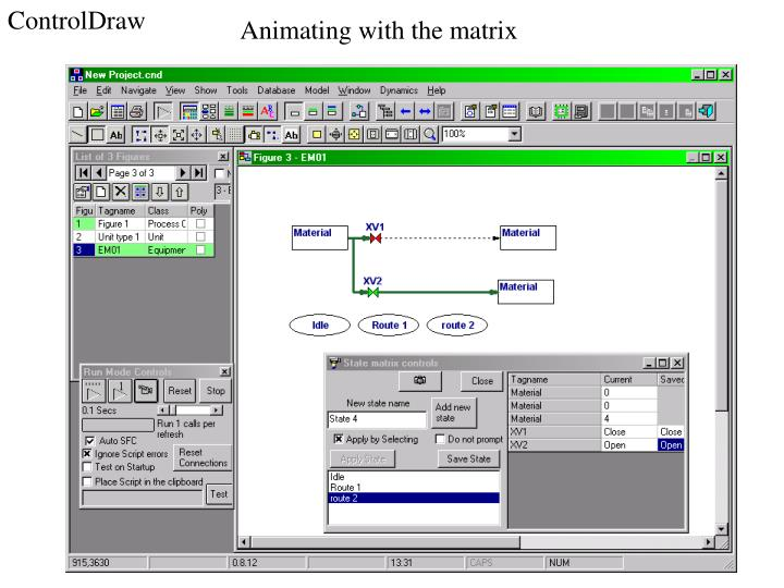 Animating with the matrix