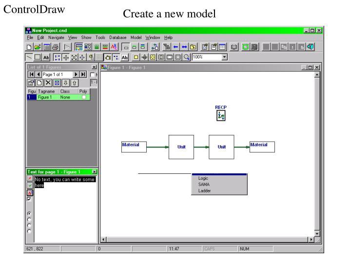 Create a new model
