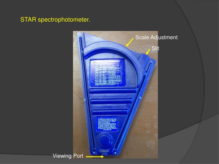 STAR spectrophotometer.