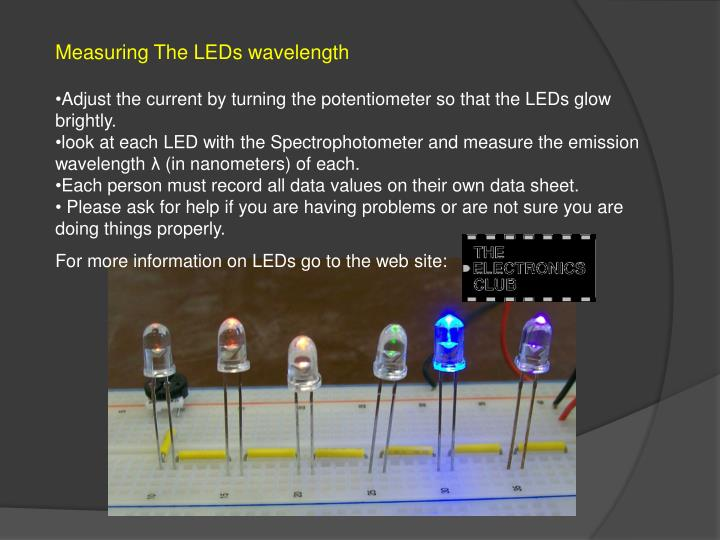 Measuring The LEDs wavelength