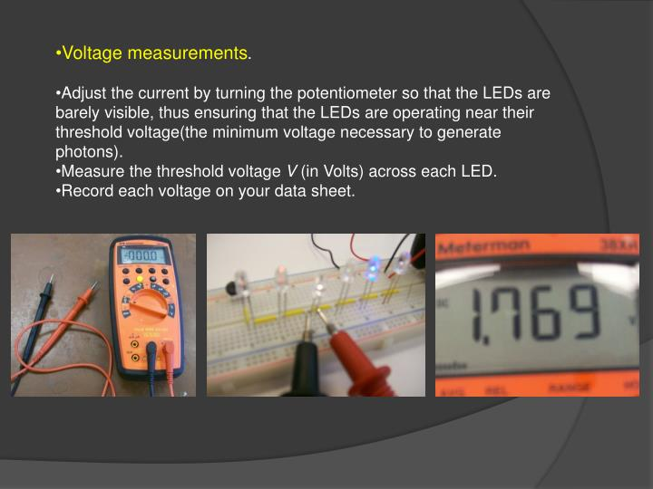 Voltage measurements