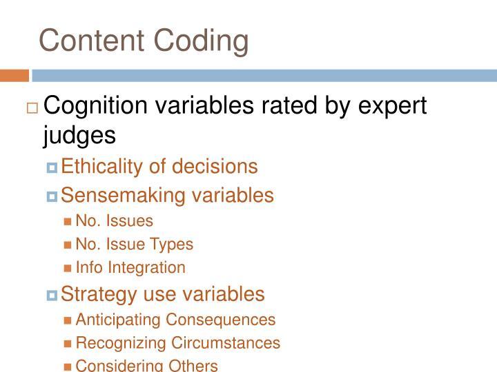 Content Coding