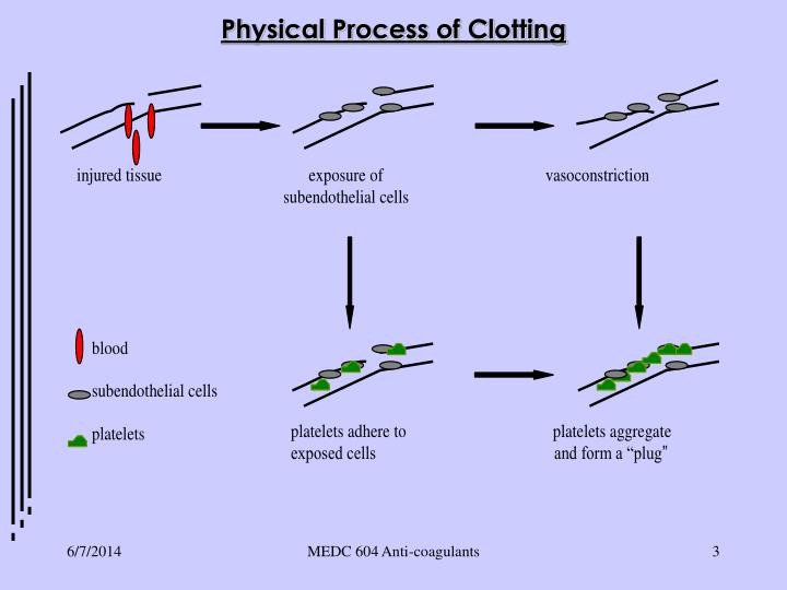 Physical Process of Clotting