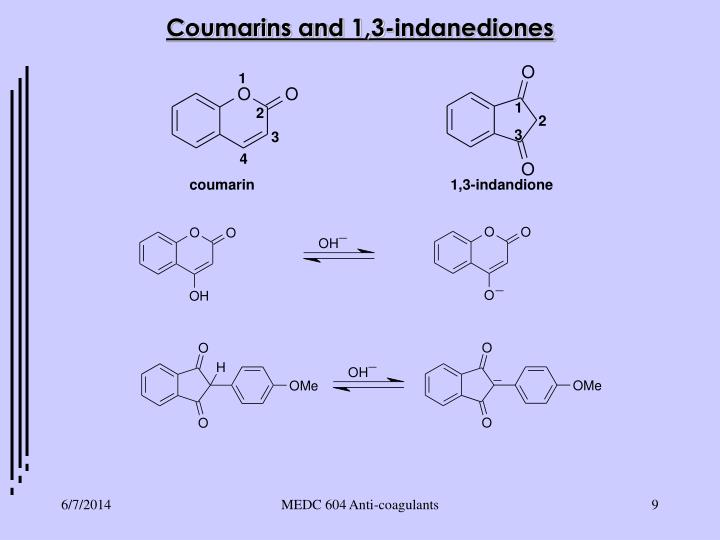 Coumarins and 1,3-indanediones
