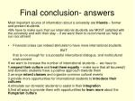 final conclusion answers