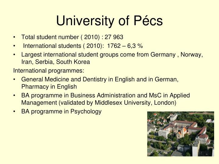 University of Pécs