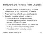 hardware and physical plant changes