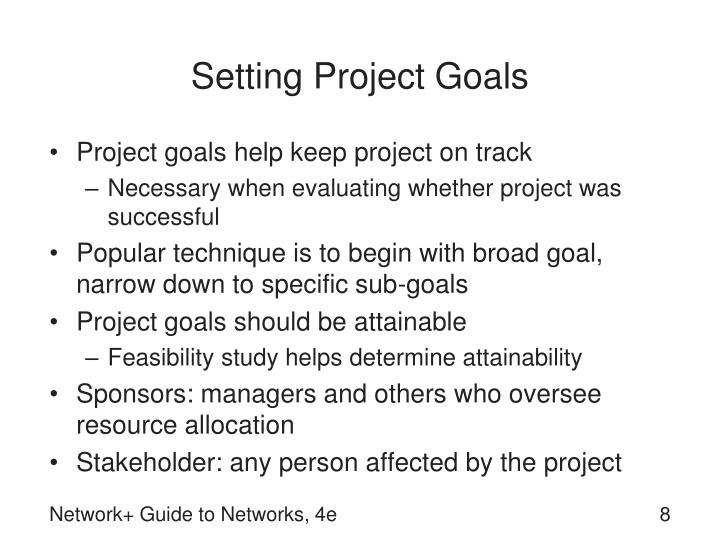 Setting Project Goals