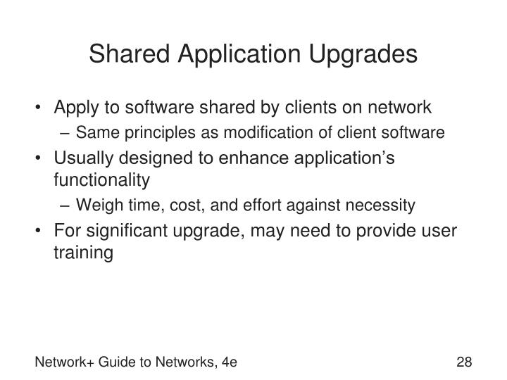 Shared Application Upgrades