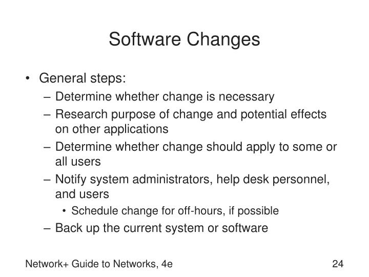 Software Changes