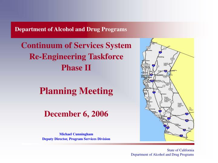 Department of alcohol and drug programs