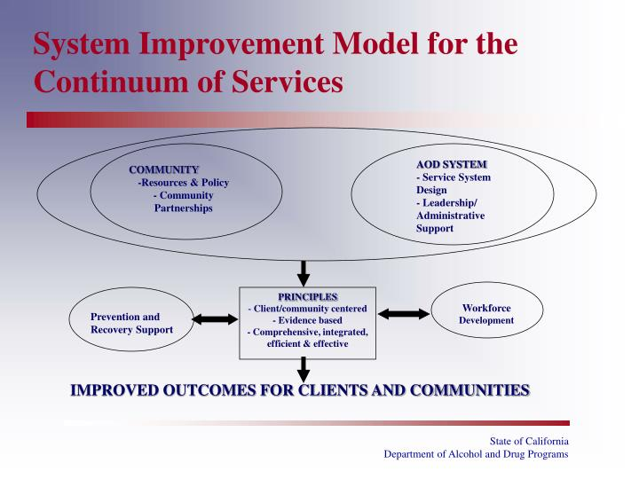 System Improvement Model for the Continuum of Services