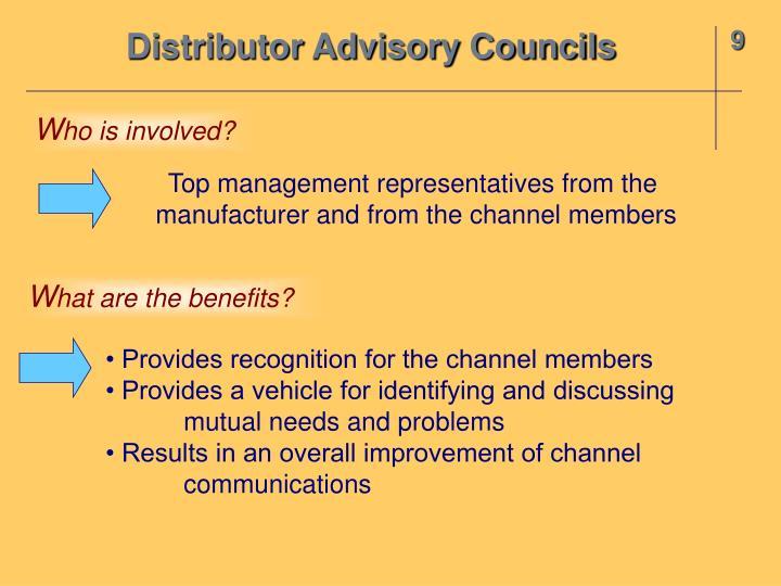 Distributor Advisory Councils