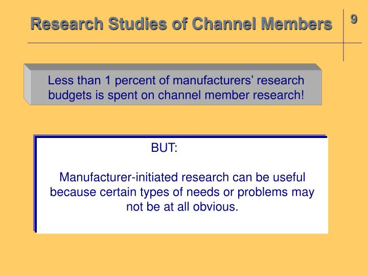 Research Studies of Channel Members