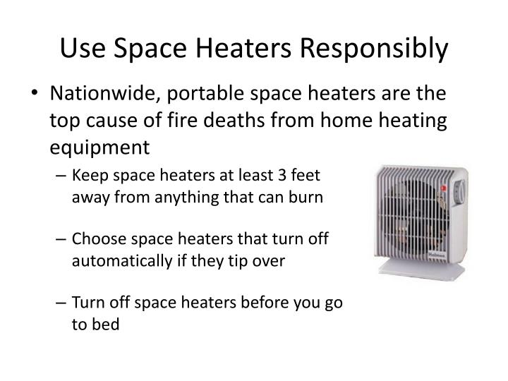 Use Space Heaters Responsibly