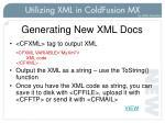 generating new xml docs