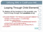 looping through child elements