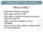 what is xml