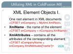 xml element objects i