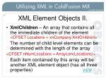 xml element objects ii
