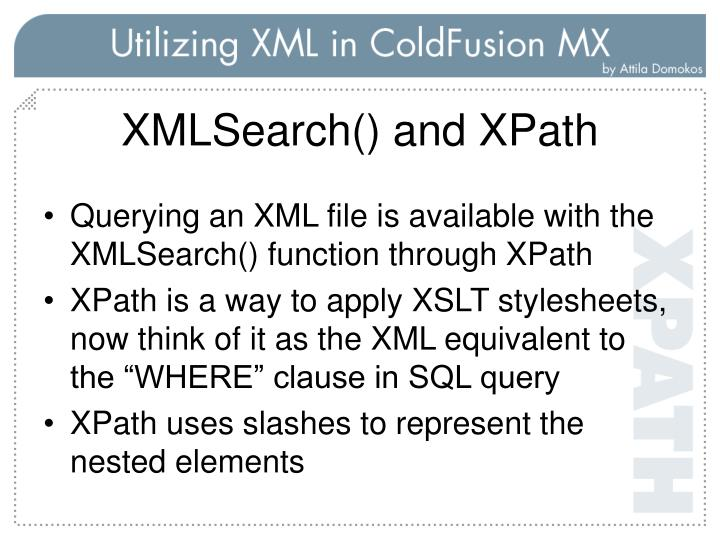 XMLSearch() and XPath