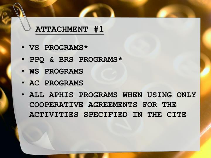 ATTACHMENT #1